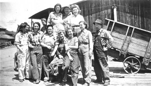 Eatonville  Lbr. Co. Female Crew 1940's