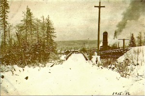 Snow storm 1915-16, Mashell Bridge and Eatonville Lumber Co.