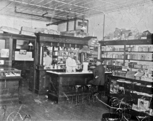 Dr. Bridge's Drug Store (first floor of today's pharmacy)