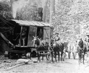 Early steam shovel