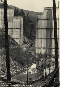 Construction of Alder Dam, 1944