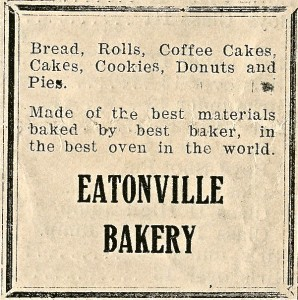 Eatonville Bakery ad 1927