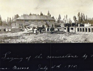 Laying EHS cornerstone, 1915