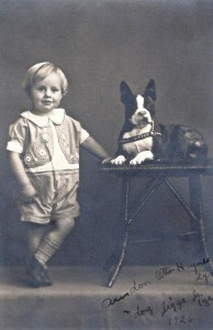 Otto Haynes and his dog