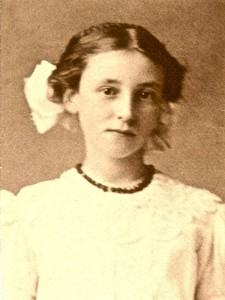 Olga Helen Olden as a young girl  - Ohop Valley pioneer