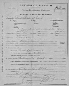 Death Certificate of Charles Franklin