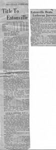 1952 Tacoma Tribune articles about Eatonville Basketball team