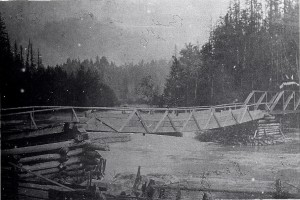 First Bridge across Nisqually at Elbe