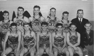 Ernie Cope with 1947 Kapowsin Basketball Team