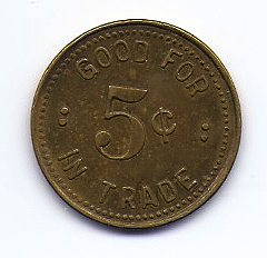 A. Burleson Trade Token - Back side