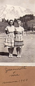Madora Dawkins and Jeannette at Mt. Rainier (1940)
