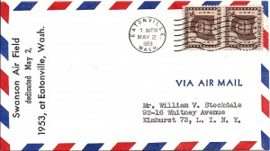 1953 Air Mail - Swanson Air Field