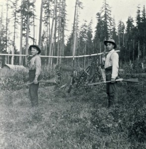 Alder trappers — Charlie Boettcher on the right