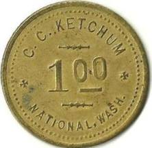 C.C. Ketchum Token from National (back)