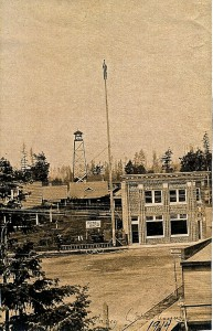 Eatonville Bank and Flag Pole (1914)