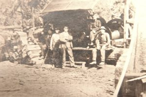 Elbe Lumber and Shingle Mill - Steam Donkey - close up on men