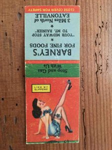 Matchbook Barney's (ca. 1950s)