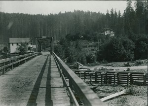 Elbe bridge & Sachs home, ca 1915