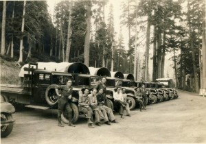 CCC men who worked up at Rainier during the Great Depression