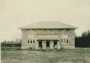 Front of the brand new 1915 gym