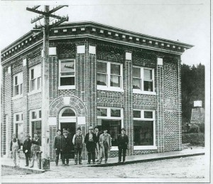 Eatonville Bank - you'll notice the sidewalks are in, but the road it still dirt.