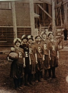 EHS Girl's 1915 Varsity Basketball team