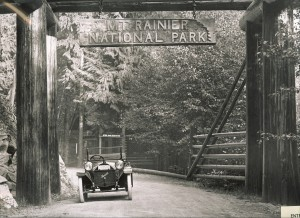 Mt. Rainier National Park Entrance in the early 1900s