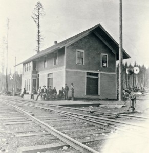 Alder Railroad depot waiting for the next train