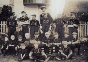 T.C. Van Eaton with his Baseball team