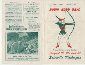 Robin Hood Days — 1955 brochure, pages 1 & 6