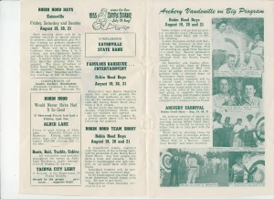 Robin Hood Days — 1955 brochure, pages 2 & 3