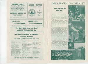 Robin Hood Days — 1955 brochure, pages 3 & 4