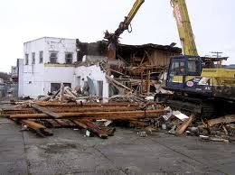 Photo taken by Bob Walter of building being demolished in 2011