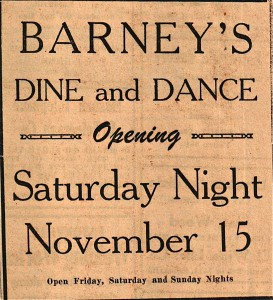 Ad for Barney's Opening in 1945