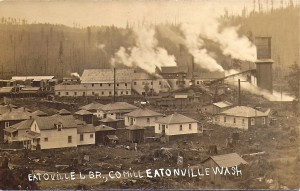 Eatonville Lumber Mill and houses