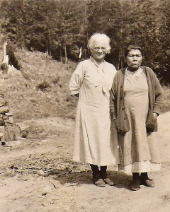 Olava Kjelstad with Mrs. Barr
