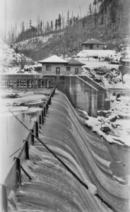 Nisqually Dam  and Gatehouse 1927
