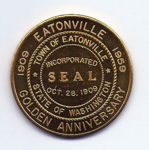 1959 Eatonville 50th Anniversary Coin - Front