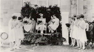 First May Day Court, 1926, with Fay Williams queen and Bill Smith king
