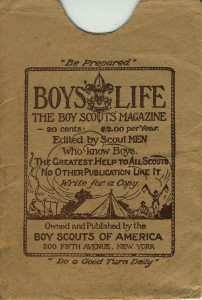 Boy's Life magazine cover, 1927
