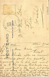 Marie Lutkens postcard from Peggy 1913