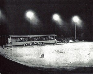 Football game 1957 - lit field