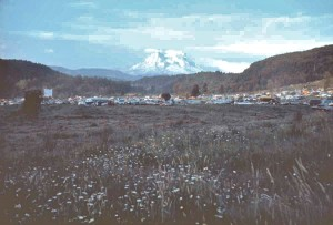Buffalo Party - Mount Rainier in the distance (1970)