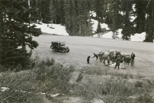Feeding the Bear at Mount Rainier (ca. 1940s)