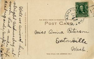 Postcard to Anna Peterson (back)
