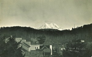 Eatonville, looking down on Mashell, with Mount Rainier in the background