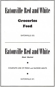 Eatonville Red and White Ad -1948