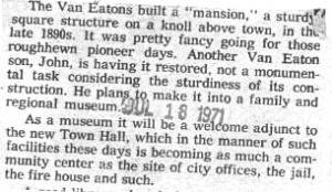 Van Eaton Text - 1971