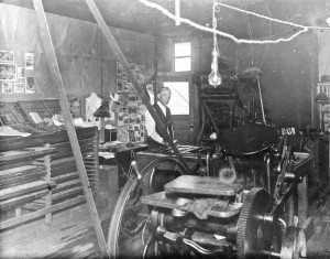 Eatonville's early printing press
