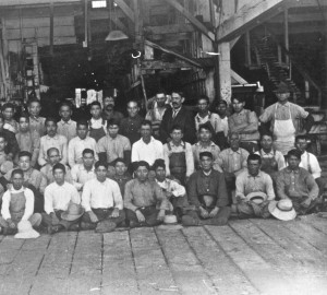 Japanese mill workers